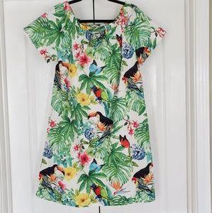 L | SOFT SURROUNDINGS | Tropical OffShoulder Dress